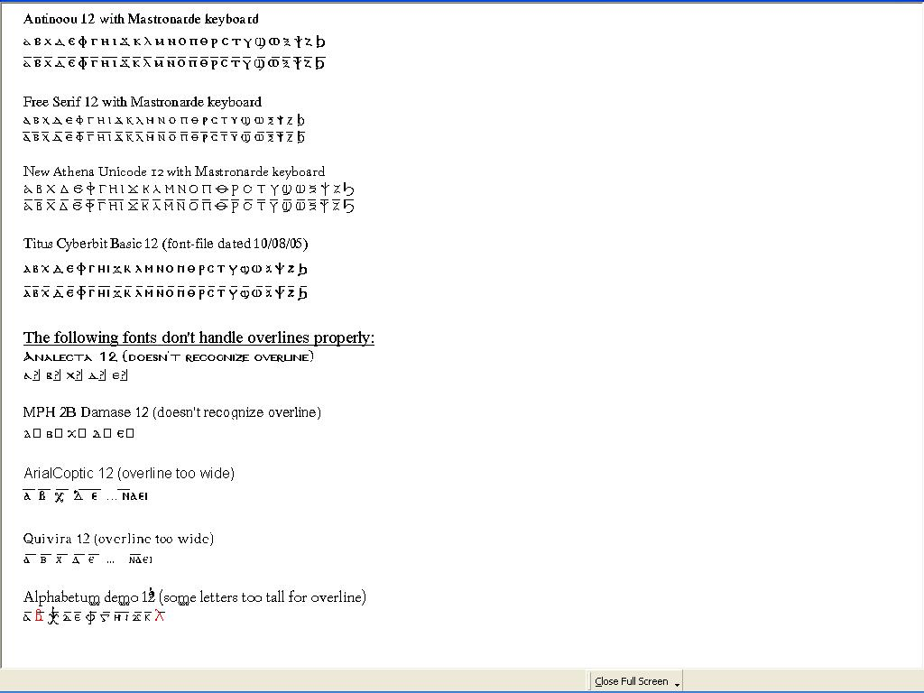 Coptic unicode fonts and keyboards see my cu font overview and test enlargeable biocorpaavc Choice Image
